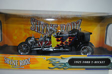 1:18 Road legends shyne rodz 1925 Ford T Bucket Black wflames Rare-Neuf/Neuf dans sa boîte *
