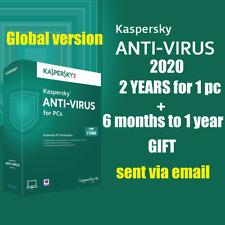 Kaspersky Anti-Virus2020 |1 Appareil| 2 Ans Code d'activation – envoi par mail