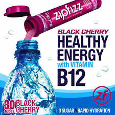 ZipFizz All Natural  Energy Drink Mix BLACK CHERRY (30 Tubes) * FREE SHIPPING *