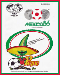 1986 Mexico World Cup Wall Art Poster of the Official Program - 8x10 Photo