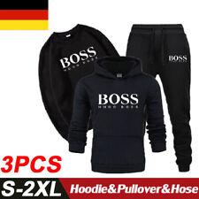 Herren Jogginganzug Sportanzug Trainingsanzug Hoodie Tops&Pullover&Hose 3 Sätze