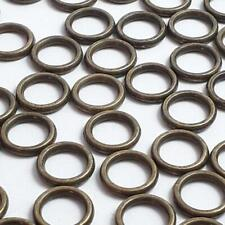 50pcs Small Round Connector Rings Antique Bronze 8mm - B24754