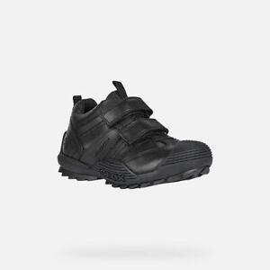 GEOX SAVAGE J Boys Smart Dress Waterproof Comfortable Leather School Shoes Black