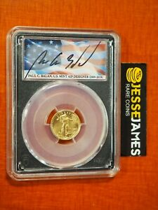 2021 $5 GOLD EAGLE PCGS MS70 TYPE 2 FIRST DAY OF ISSUE FDI PAUL BALAN FLAG LABEL