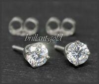 1,75ct Diamant Brillant 585 Gold Damen Solitär Ohrstecker, in Top Wesselton, NEU