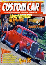 CUSTOM CAR MARCH 2002-V6 100E ANGLIA-FLATHEAD T-CHOPPED T BIRD V8 HOT ROD DRAG