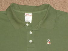 Disney Mickey Mouse Mens Green Long Sleeve Polo Collared Golf & Tennis Shirt XL