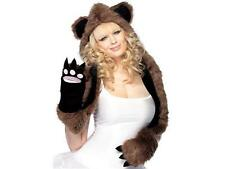 Fuzzy Bear Hood with Paws - Teen/Adult Halloween Costume - Festival Wookie EDM