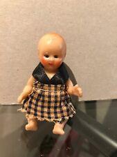 "Vintage 3"" Baby Doll Dollhouse Hong Kong Sleep Eyes Arms & Legs Move Nice Cond"