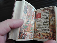 Medieval 1400 Codex Facsimile FLEMISH BOOK OF HOURS Manuscript Golden Cover