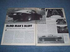 "1977 Chevy Vega Vintage Pro Street Drag Car Article ""Blind Man's Bluff"""