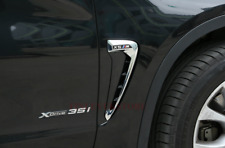 For BMW F15 X5 M Type Marker Chrome Side Fender Air Wing Vent Trim
