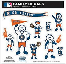 Houston Astros Large Family Decals 9 Pack (NEW) Auto Car Stickers Emblems MLB