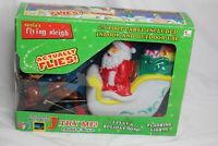 Tekky Toys Santa's Flying Sleigh Christmas Blow Mold Original Box New Open Box