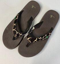 Sanuk Womens Size 10 Animal Yoga Mat Flip Flop Thong Sandals