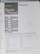Pioneer PL-200/255/250/260/300/400 MANUALE OFFICINA SERVIZIO (copia originale)