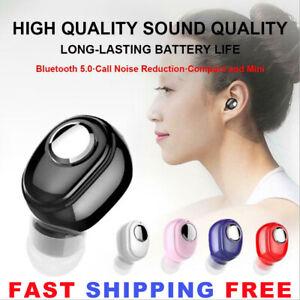 Bluetooth 5.0 Headset Wireless Earphone Stereo Earbud Mini Headphone In-Ear