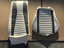 1971 1972 1973 Mustang Mach 1 Mach I White & Gray Upholstery 1 Front Seat Cover