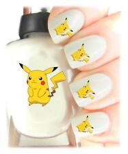 Pikachu Pokemon - Nail Art Decal Stickers, easy to use on any colour nail.453