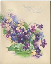 VINTAGE GARDEN FLOWERS VIOLETS SWAN POEM 1 ABC PUPPETS DOLLS TOYS TRAIN ART CARD