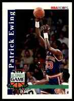 1992-93 NBA HOOPS HIS ULTIMATE GAME PATRICK EWING NEW YORK KNICKS INSERT