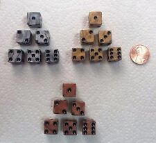 DICE - *3* SETS>>12mm OLYMPIC COLORS - PEARL GOLD, SILVER, BRONZE - SMALL SIZES!