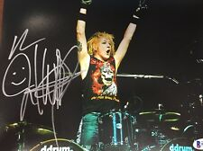 JAMES KOTTAK AUTO Drummer SCORPIONS BAS 8X10 PHOTO