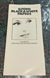 A vintage Ilford Black & White Papers sales leaflet from the 1990s