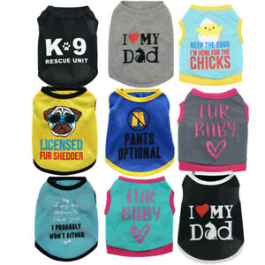 Wholesale 9 PCS Lot Dog Clothes Small Pet Tee Shirt Cat Puppy Clothing Size XS-M