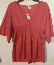 NWT Old Navy Rose Empire Waist Smocked Tunic Top Size Small