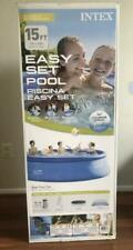 """New listing Intex 15' x 48"""" Inflatable Easy Set Above Ground Swimming Pool w/ Ladder & Pump"""