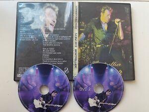 """DVD Johnny Hallyday """" Montpellier 2012 """"avec Autoportrait (rare) et costume bleu"""