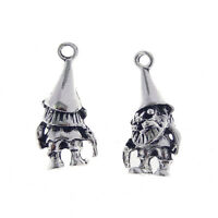 20 pcs Antiqued Silver Santa Claus Charm Necklaces Pendants Jewelry Findings