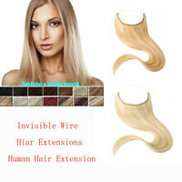 100%REAL Human Extension Secret Invisible Wire Hair Extensions All Colors85-135g