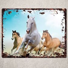 PP0236 Rust Vintage Animal Horse Sign Home Bar Shop Cafe Room Interior Decor