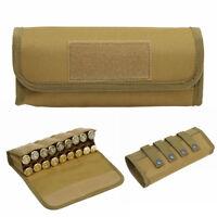Hunting 18 Round Shotgun Shell Cartridge Holder Molle 12 20 Gauge Ammo Pouch Tan