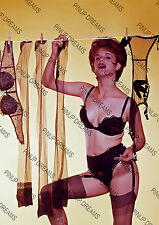 Vintage Pin-up Poster Print of Lady Pegging washing on the line in Panties #3