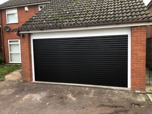 77mm Electric roller garage doors, up to 2700mm wide including safety edge