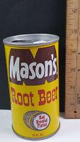 Masons Root Beer Can Flat Pull Tab Top 2 Keg Brewed Flavette Light Barrel Rare