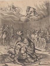 Pierre Lombart, (1612-1682)   acquaforte Enea uccide Turno