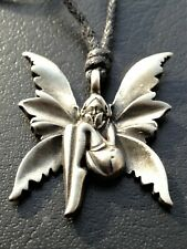Pewter Fairy Pendant - Nickel Free -With Black Cord - Same Day Despatch