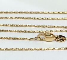 "18k Solid Yellow Gold Italian Small Link Chain Necklace, 18"". 3.15Grams"