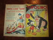 WALT DISNEY ALBO D'ORO N°38 1°RISTAMPA TOPOLINO E IL GORILLA SPETTRO 30-6-1951