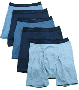 "HANES BEST 5 PACK TAGLESS BOXER BRIEF, BLK & GRAY SMALL 28""-30"" FREE S/H"