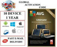 AVG ULTIMATE 2021 10 Devices 1 YEAR EU / DE / GLOBAL KEY CODE (EMAIL DOWNLOAD)