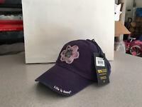 "Life Is Good Cap Hat Flower Purple Patch Navy ""Buy 4 Get 1 Free"""