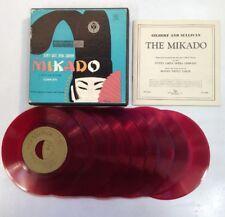 "The Mikado 45 RPM 7"" Records X 9 Gilbert & Sullivan  D'oyly Opera ShopVinyls.com"