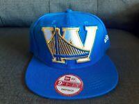Blue New Era Cap Golden State Warriors 9Fifty Snapback Adjustable Hat Cap