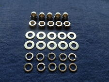 VESPA PX P STAINLESS STEEL DOMED  ACORN  WHEEL NUTS  & WASHERS 30 PIECE KIT
