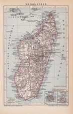 Madagascar Madagascar Comores carte de 1898